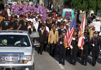 Parents Of Trayvon Martin Lead March For Justice In Miami