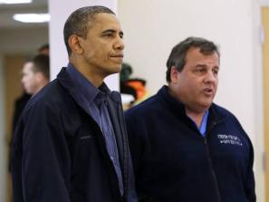 Christie and Obama Tour16