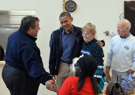 Christie and Obama Tour23