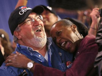 Supporters celebrate Obama2