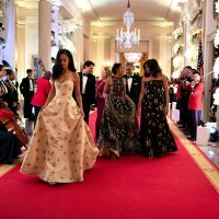 Malia and Sasha Obama Stunned At Their First State Dinner