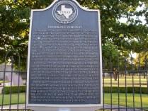 Freedman's Cemetery, Dallas, Texas Historical Marker