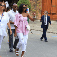 Former First Lady Michelle Obama Exploring in Italy