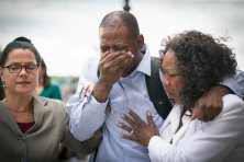 Raw emotion from John Thompson, Philando Castile's friend, after verdict announced. #BlackPain