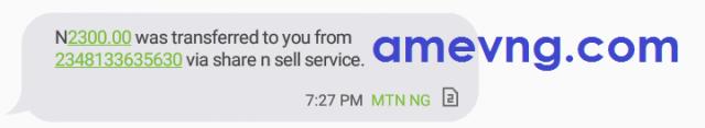 2300 mtn credit transfer notification