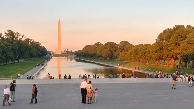 Отражающий бассейн. Reflecting pool. Lincoln memorial
