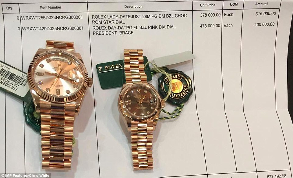 Socialite Chivayo has earned a reputation for his boastful social media posts showing off expensive items like Rolex watches
