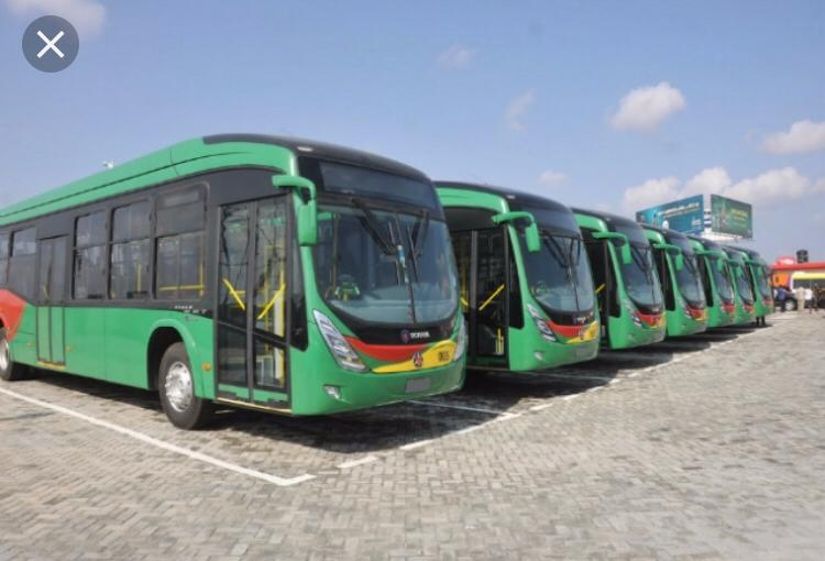 BRT Buses at achimota station