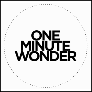 One Minute Wonder: A Series of Video Portraits in 60