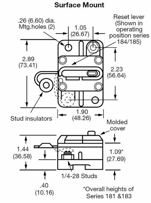 New High Quality DC Circuit Breaker 150 Amp Surface Mount