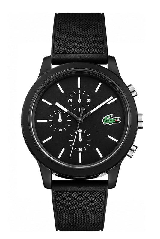 lacoste horloge zwart 12.12 lc2010972