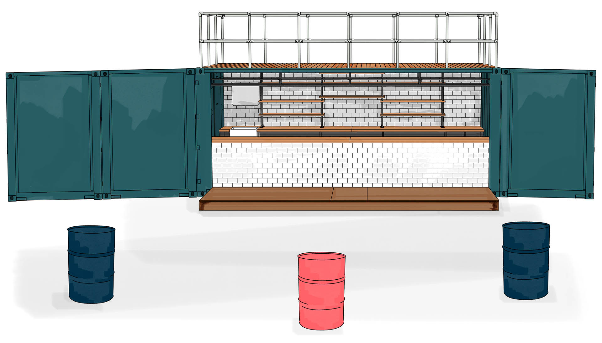 Amfora London Container Bar as a Special Supply