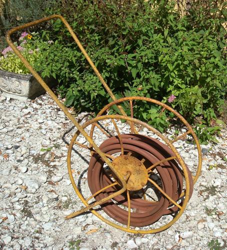 Vintage Hose Reel Garden Wrought Iron Antique Aileen