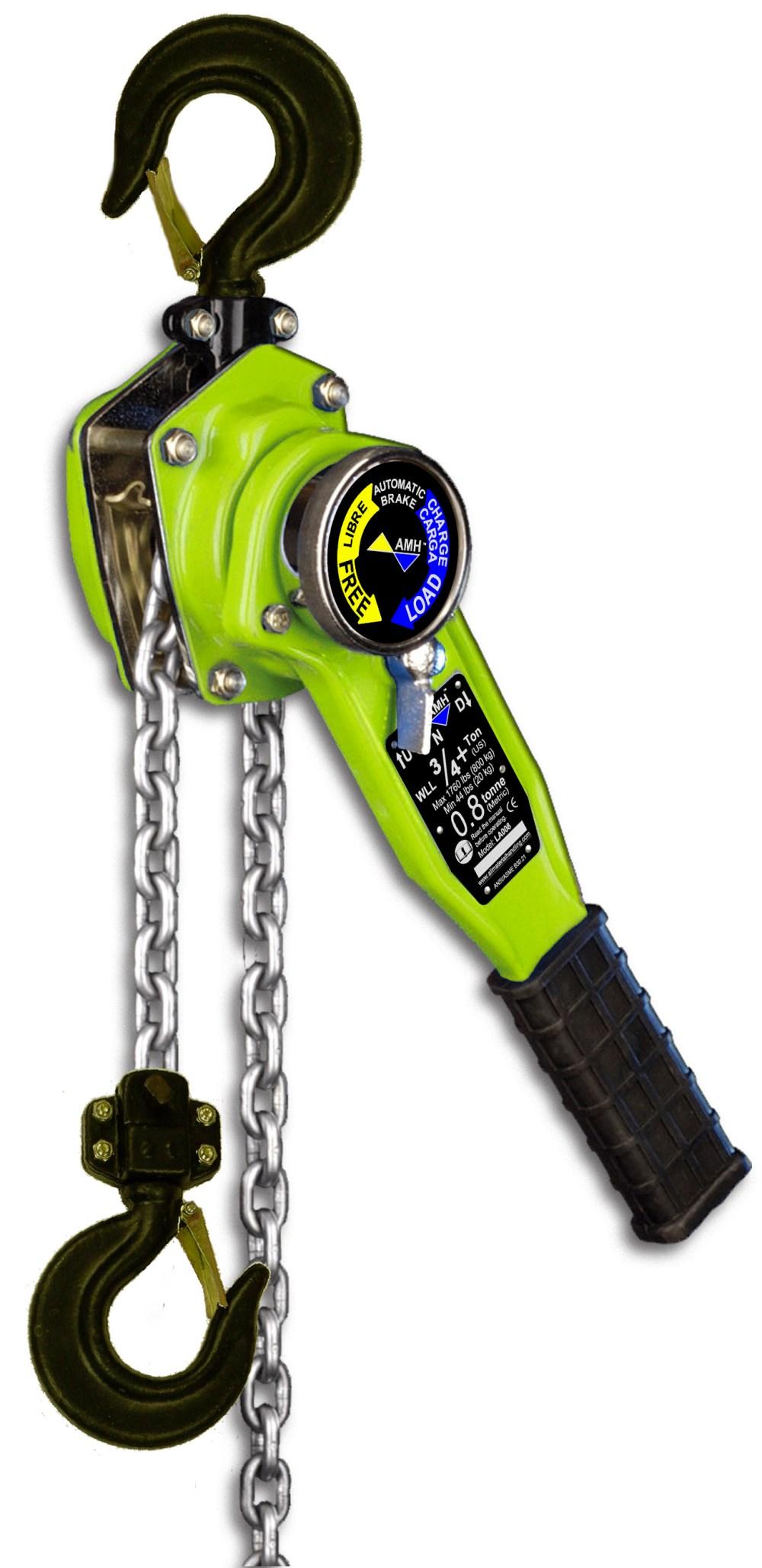 medium resolution of lever chain hoist la