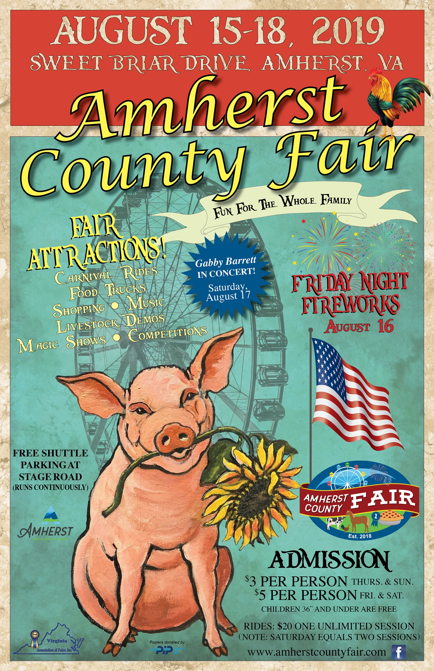 Amherst County Fair | August 15-18, 2019