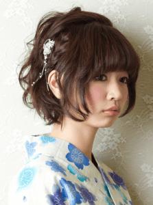 浴衣に合う髪型を簡単アレンジ画像集 ミディアム 5
