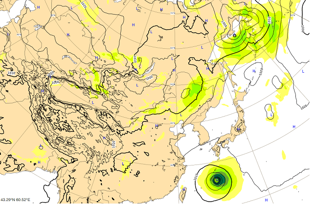 台風18号9月30日の進路
