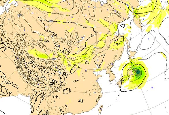 台風18号10月2日の進路