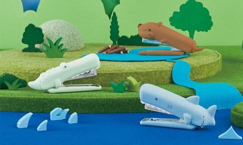 ヒルナンデス!で紹介されたマックスのシリコンカバーホッチキスでサメ・ワニ・ビーバーがかわいい