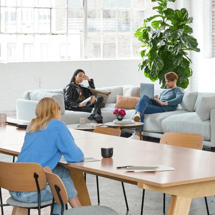 עובדים יושבים במשרד