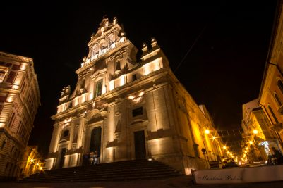 San Michele Arcangelo church of Grammichele by night