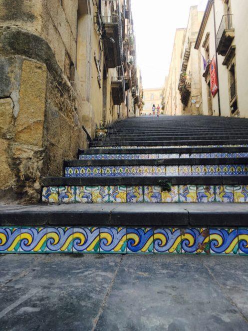 Caltagirone historical ceramic staircase of Santa Maria del Monte