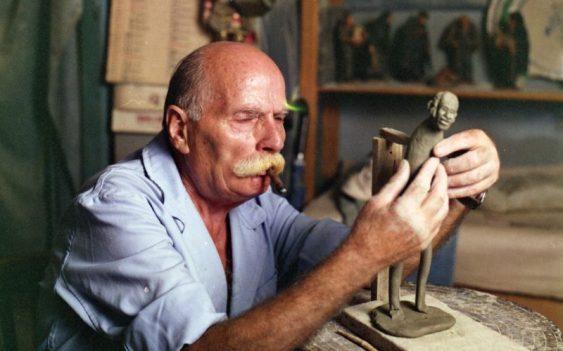 Artisan ceramist at work