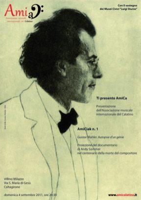 AmiCiak n. 1 (2011) Gustav Mahler. Autopsie d'un génie | Proiezione del documentario di Andy Sommer (poster)