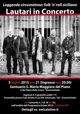 AmiConcerto n. 6 (2015) Lautari in concerto   Leggende circumetnee: folk 'n' roll siciliano (poster)