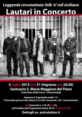 AmiConcerto n. 6 (2015) Lautari in concerto | Leggende circumetnee: folk 'n' roll siciliano (poster)