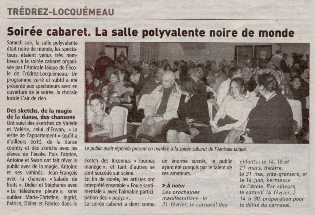Le Télégramme 02 février 2009