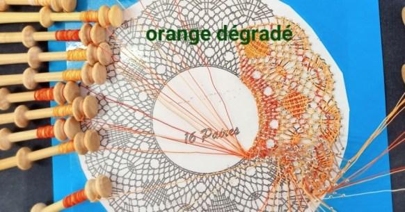 orange dégradé