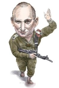 Naftali Benet - karikatúra globes.co.il