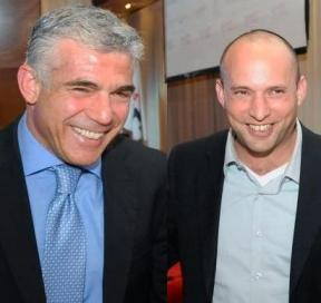 Yair Lapid and Naftali Bennett