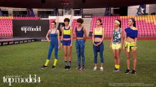 AsNTM4 Episode 9 - The girls in neon and blue before the challenge