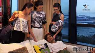AsNTM4 Episode 9 - Tuti being comforted by the other girls at the model house