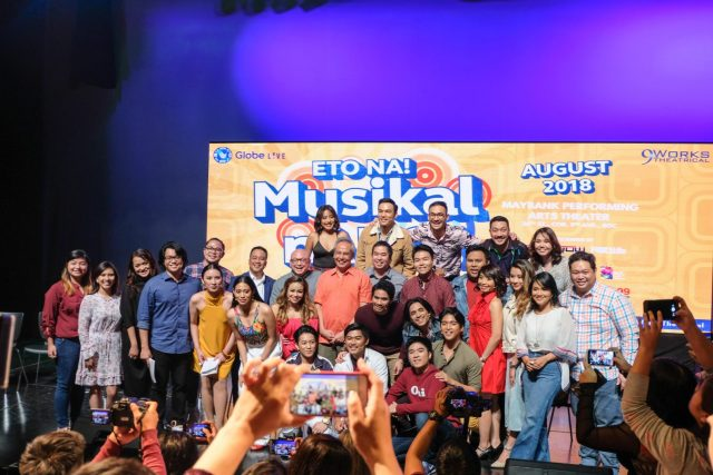 Eto Na! Musikal nAPO! cast & crew with APO Hiking Society's Jim Paredes
