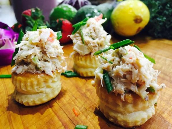 Crab Salad Profiteroles