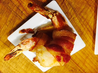 Shrimp Wrapped in Bacon