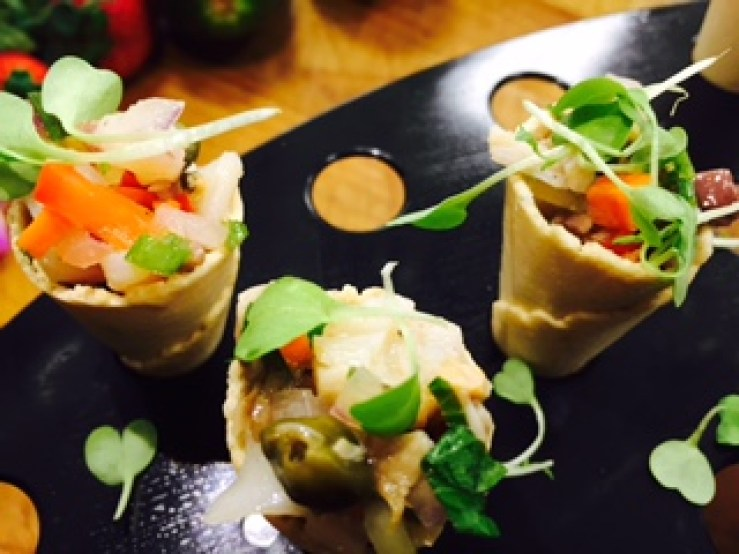 Ahi Tuna or Salmon Sashimi..........in Cones