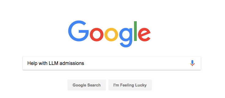Googling for help with LLM admissions