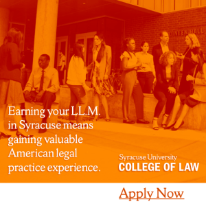 Enrol for the LL.M. at Syracuse University