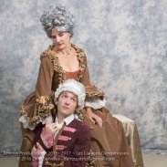 Merteuil (Renee Cullen) and Danceny (Conor Ling)