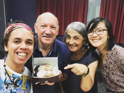 FRESH Web Series rehearsal with Tony, Rosa, Nikki and the best cannoli in Melbourne.