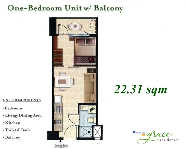 Unit Layout TULIP TOWER  Grace Residences by SMDC