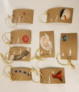 image of gift tags horizontal