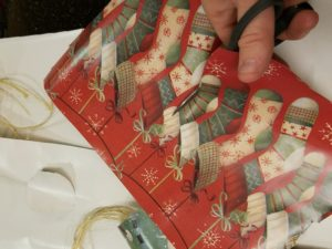 image of gift wrap stocking gift tags