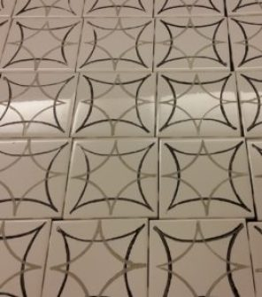 faux cement tile backsplash project stamped tiles amigas4all