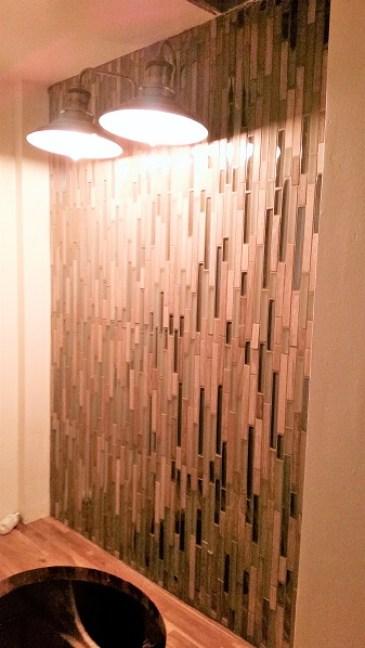 tiles light fixture image powder room redo amigas4all 1
