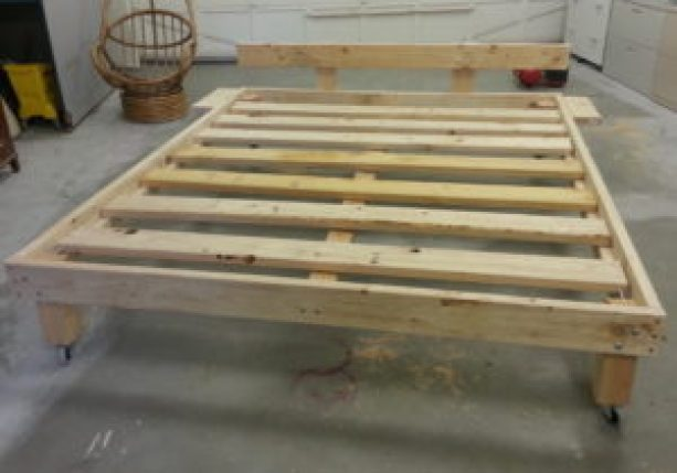 daybed frame from old mattress before paint